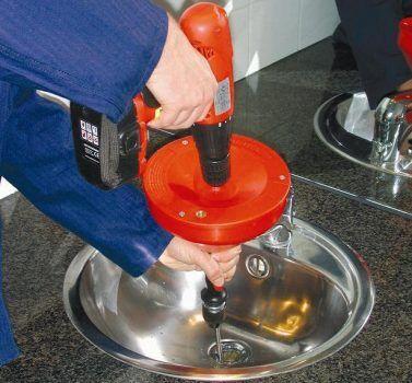 Трос для прочистки канализации с дрелью