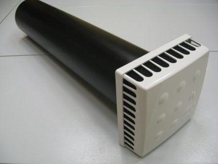 Стеновой клапан приточной вентиляции в обустройстве гаража