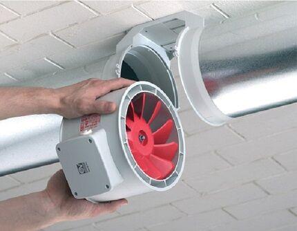 Канальный круглый вентилятор