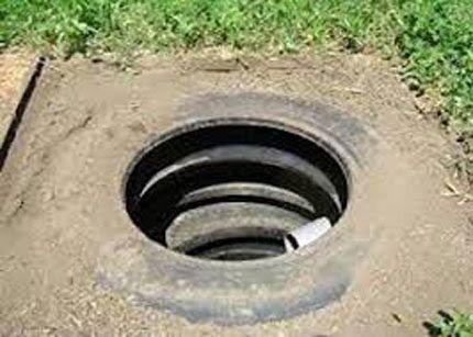 Сливная яма из автошин