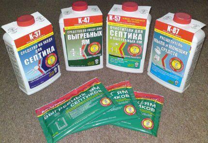 Различные виды антисептиков для дачного туалета