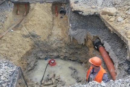 Откачка воды из котлована и траншей