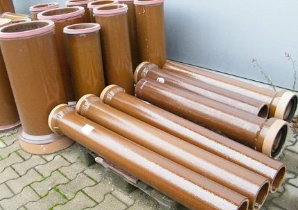 Керамические канализационные трубы