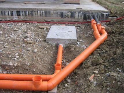 Монтаж системы наружной канализации