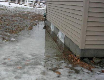 Последствия весеннего таяния снегов