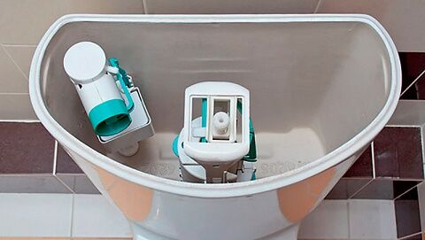 Сливной механизм бачка унитаза арматура для системы с кнопкой устройство и отладка если снизу протекает вода