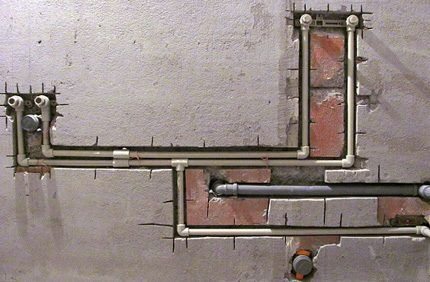 Скрытая прокладка полипропиленовых трубопроводов