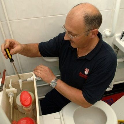 Механизм спуска воды в унитазе