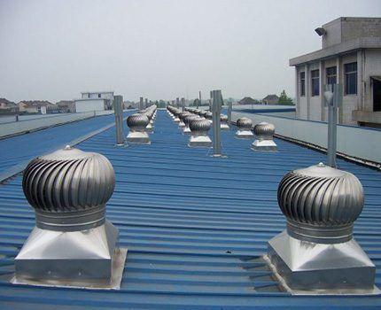 Установка на плоское основание крыши