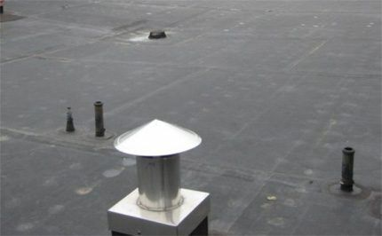 Выходы вентилируемых канализационных стояков