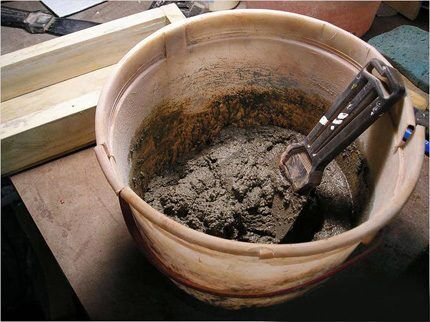 Цементный раствор для установки унитаза