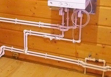 Монтаж водопровода из пропиленовых труб