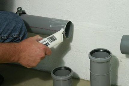 Смазка для соединений канализации
