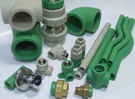 Фитинги водопроводных систем из полипропилена