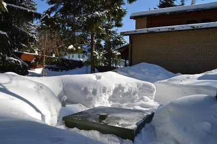 Остановленный на зиму септик