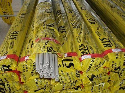 Упаковки труб по 12 отрезков