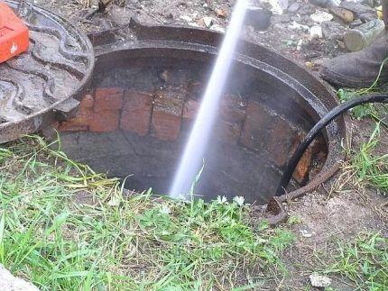 Прочистка водой