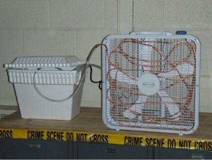 Вентилятор с контуром охлаждения