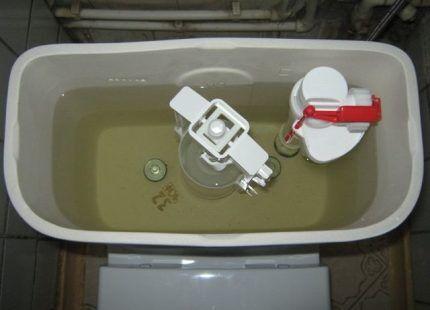 Настройка механизма слива воды