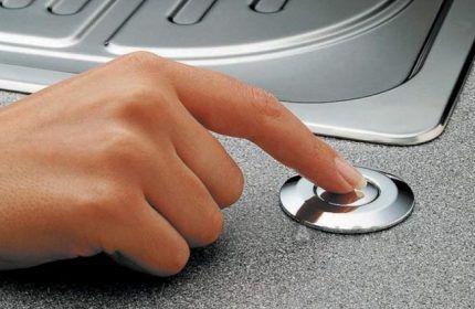 Кнопка для включения
