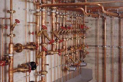 Система медного трубопровода