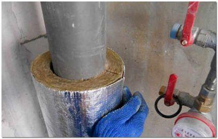 Теплоизоляция трубы