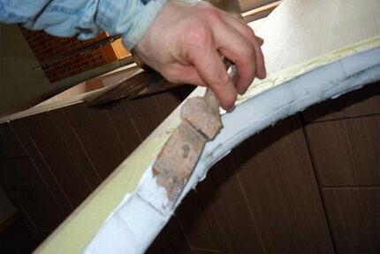 Подготовка к монтажу раковины в столешницу над стиральной машиной