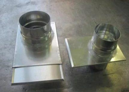 Образцы шиберной заслонки из оцинкованной стали