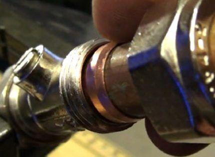 Соединение медных труб с фитингом обжимное