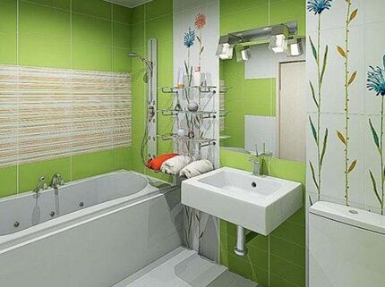 Короб в интерьере ванной