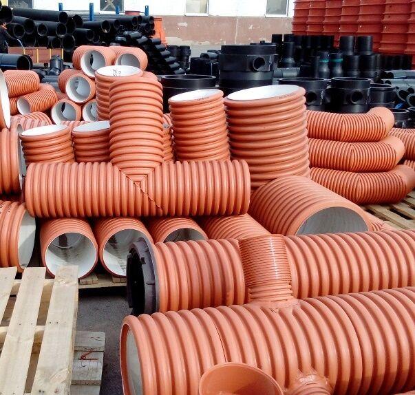 Монтаж гофрированной трубы для канализации