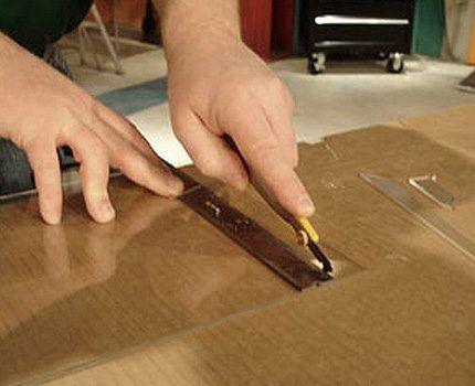 Вырезать детали короба из картона