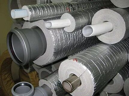 Утеплители для канализации