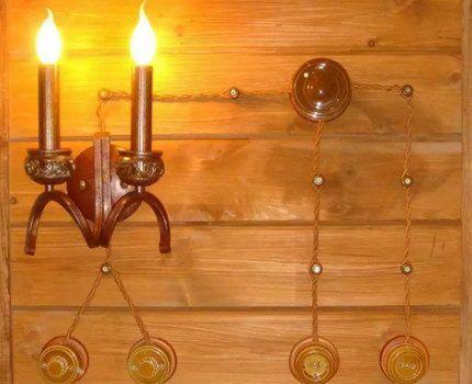 Светильник с наружной проводкой