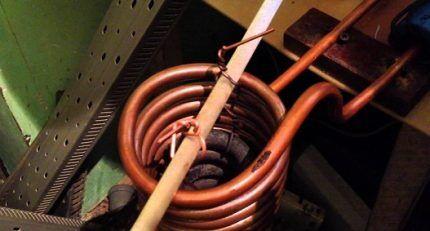 Спираль индуктора для нагревателя