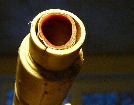 Расслоение структуры трубы