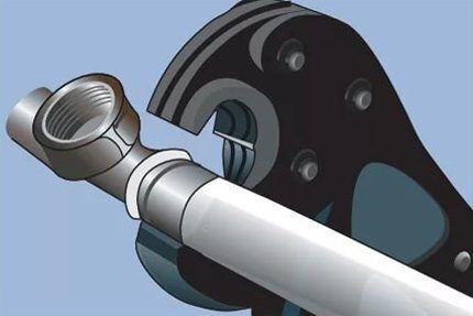Опрессовка металлопластиковых труб пресс-клещами