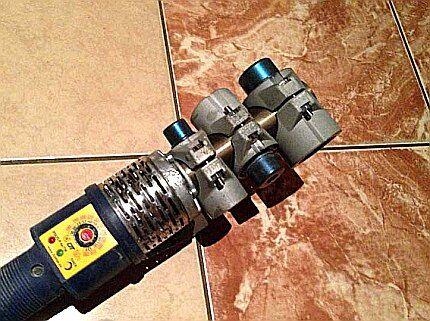 Цилиндрический нагреватель с тремя насадками