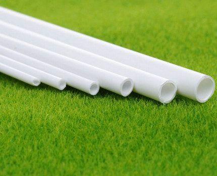 Пластиковые трубы разного диаметра