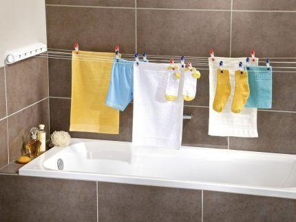 Сушка белья в ванной