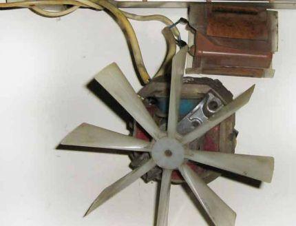 Осевая крыльчатка тепловентилятора