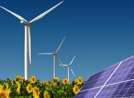 Комбинация солнечных панелей и ветрогенераторов
