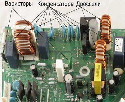 Защитный фильтр электроники кондиционера