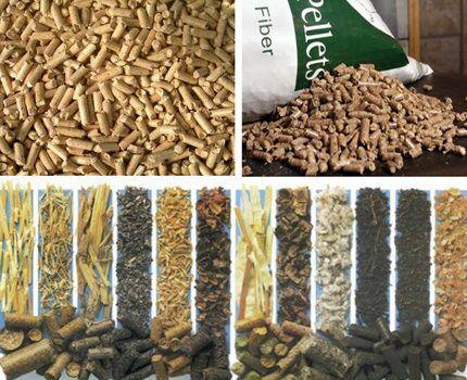 Разные виды гранул