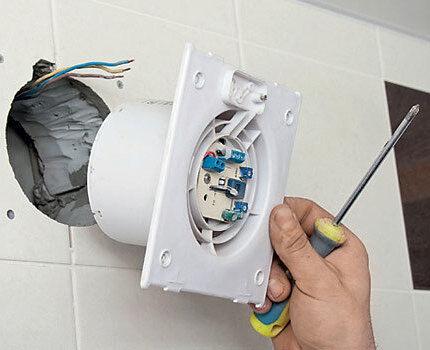 Подключение вентилятора к сети