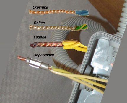 Способы соединения проводников