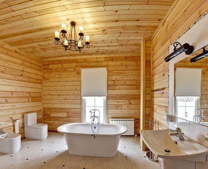 Можно установить ванну в центре
