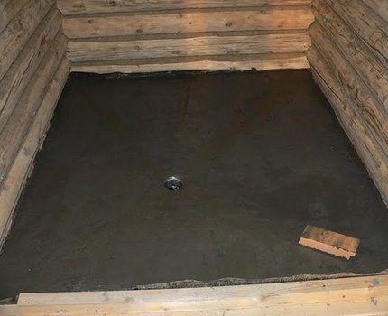 Цементная стяжка на полу