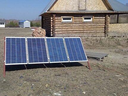 Солнечные батареи на участке