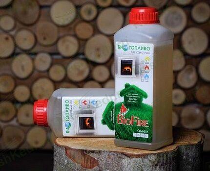 Топливо для экокаминов в бутылках